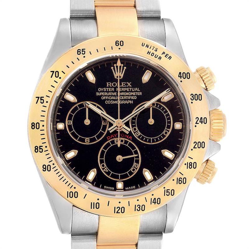 Rolex Daytona Steel Yellow Gold Chronograph Mens Watch 116523 SwissWatchExpo