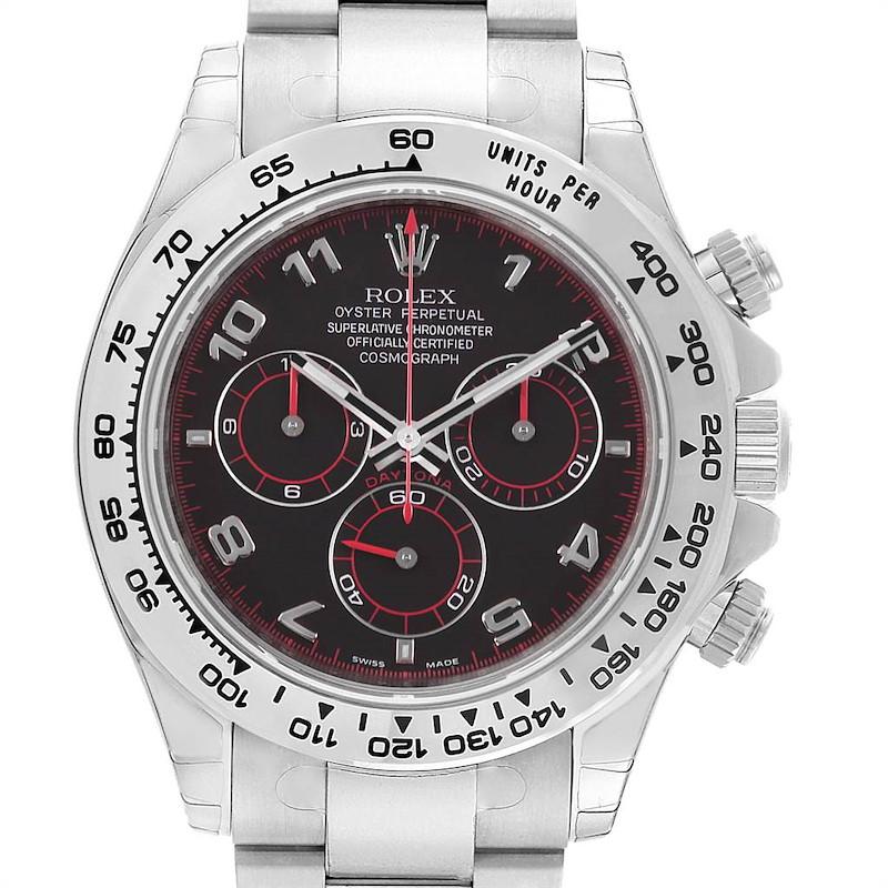 Rolex Cosmograph Daytona White Gold Black Dial Mens Watch 116509 Unworn SwissWatchExpo