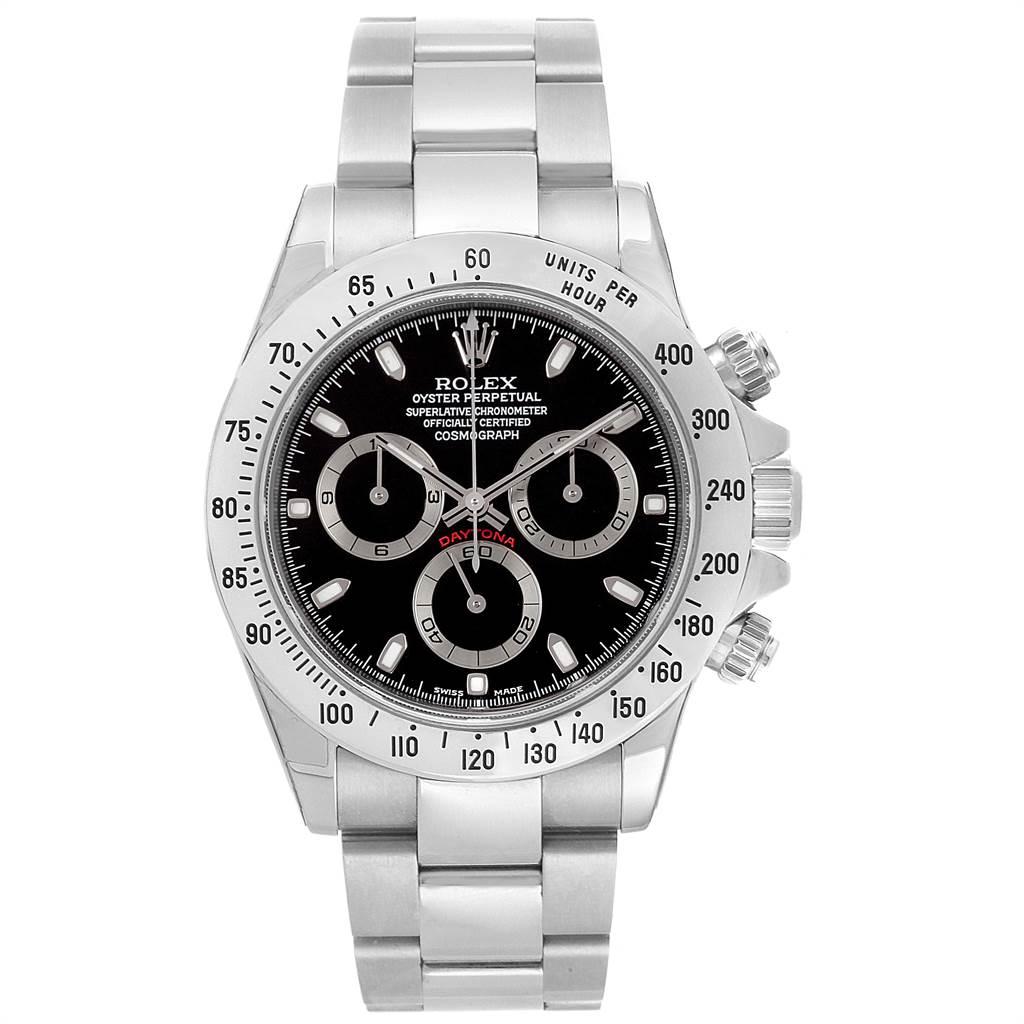 Rolex Daytona Black Dial Chronograph Steel Mens Watch 116520 Unworn SwissWatchExpo