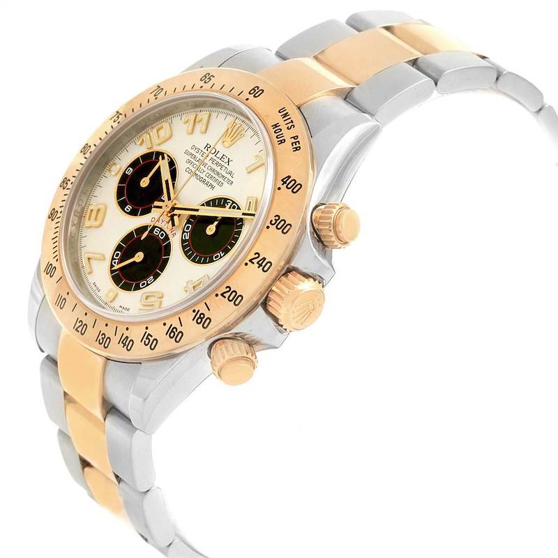 Rolex Daytona Panda Dial Steel Yellow Gold Chronograph Mens Watch 116523 SwissWatchExpo
