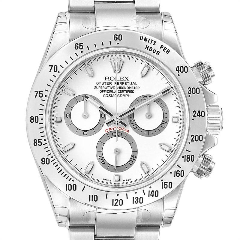 Rolex Daytona White Dial Chronograph Steel Mens Watch 116520 Unworn SwissWatchExpo