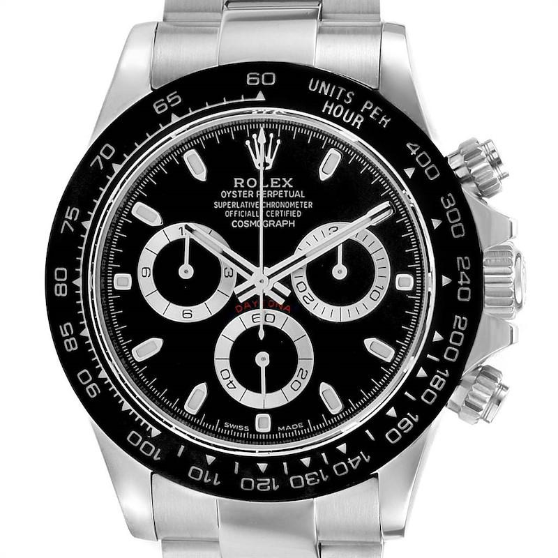 Rolex Daytona Black Dial Chronograph Mens Watch 116500 Box Card SwissWatchExpo