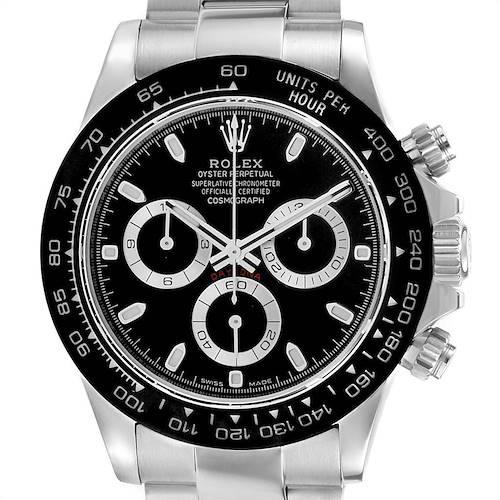 Photo of Rolex Daytona Black Dial Chronograph Mens Watch 116500 Box Card