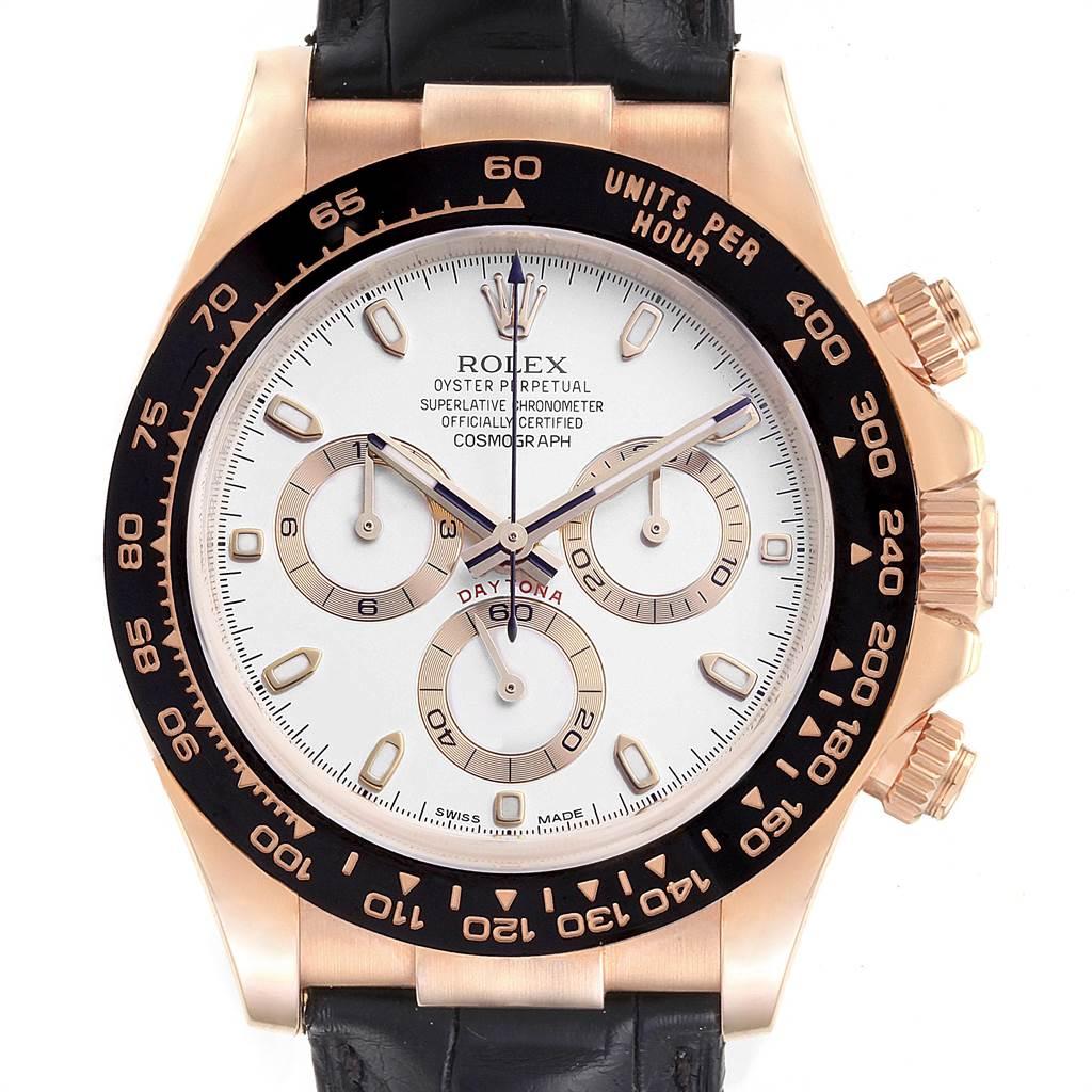 Rolex Cosmograph Daytona Rose Gold Everose Mens Watch 116515 Unworn SwissWatchExpo