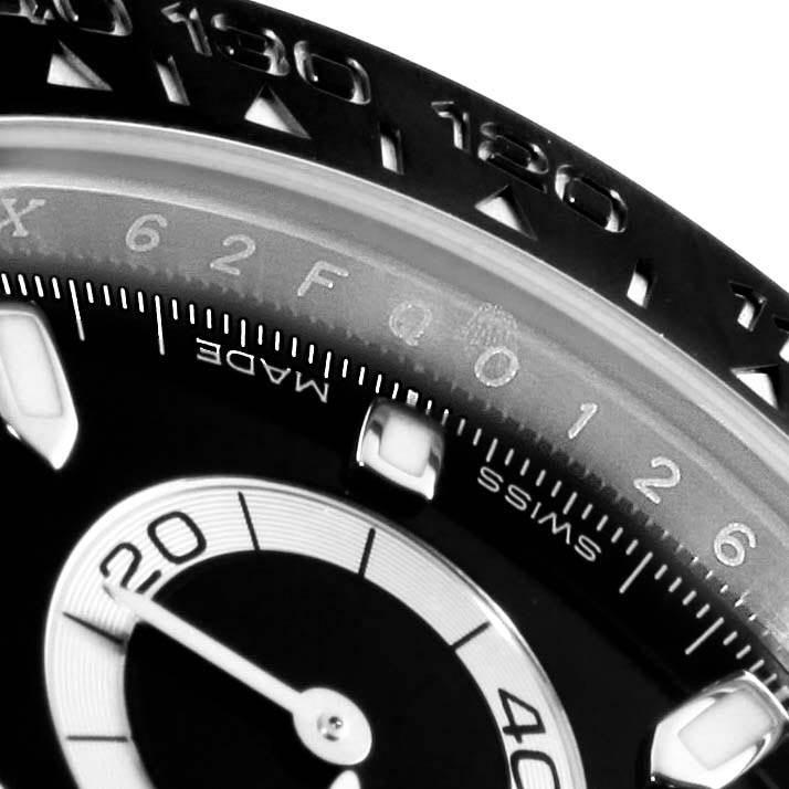 Rolex Daytona Ceramic Bezel Black Dial Chronograph Mens Watch 116500 SwissWatchExpo