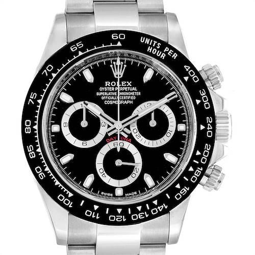 Photo of Rolex Daytona Ceramic Bezel Black Dial Chronograph Mens Watch 116500