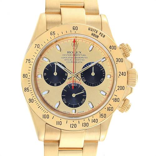 Photo of Rolex Daytona Yellow Gold Paul Newman Dial Mens Watch 116528