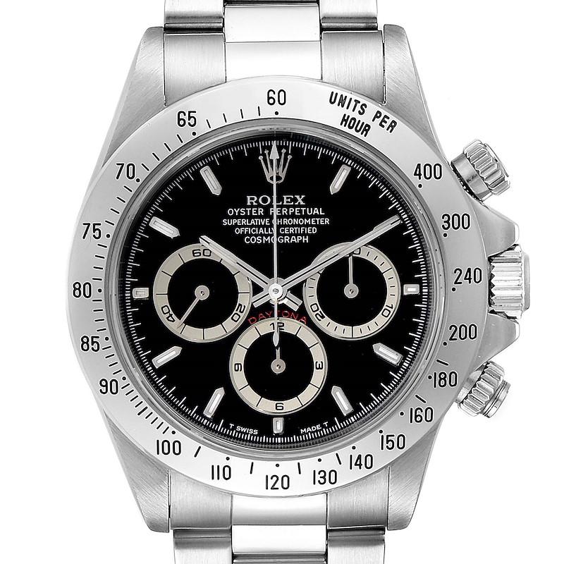 Rolex Cosmograph Daytona Black Dial Zenith Movement Watch 16520 SwissWatchExpo