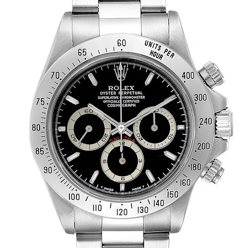 Photo of Rolex Cosmograph Daytona Black Dial Zenith Movement Watch 16520