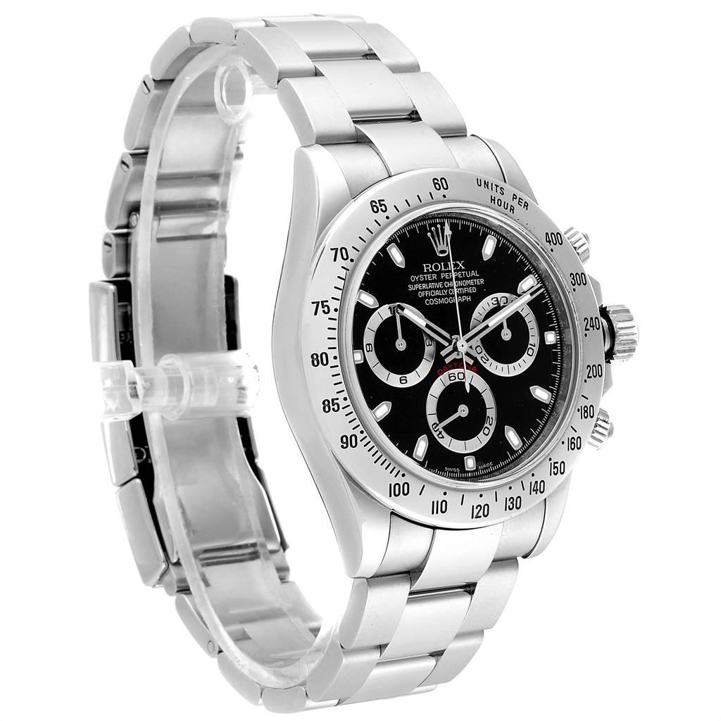 Rolex Daytona Black Dial Chronograph Stainless Steel Mens Watch 116520 SwissWatchExpo