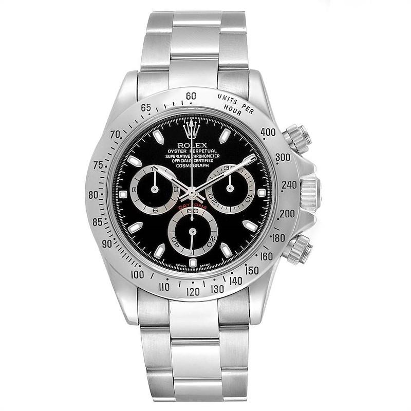Rolex Daytona Cosmograph Black Dial Chronograph Steel Mens Watch 116520 SwissWatchExpo