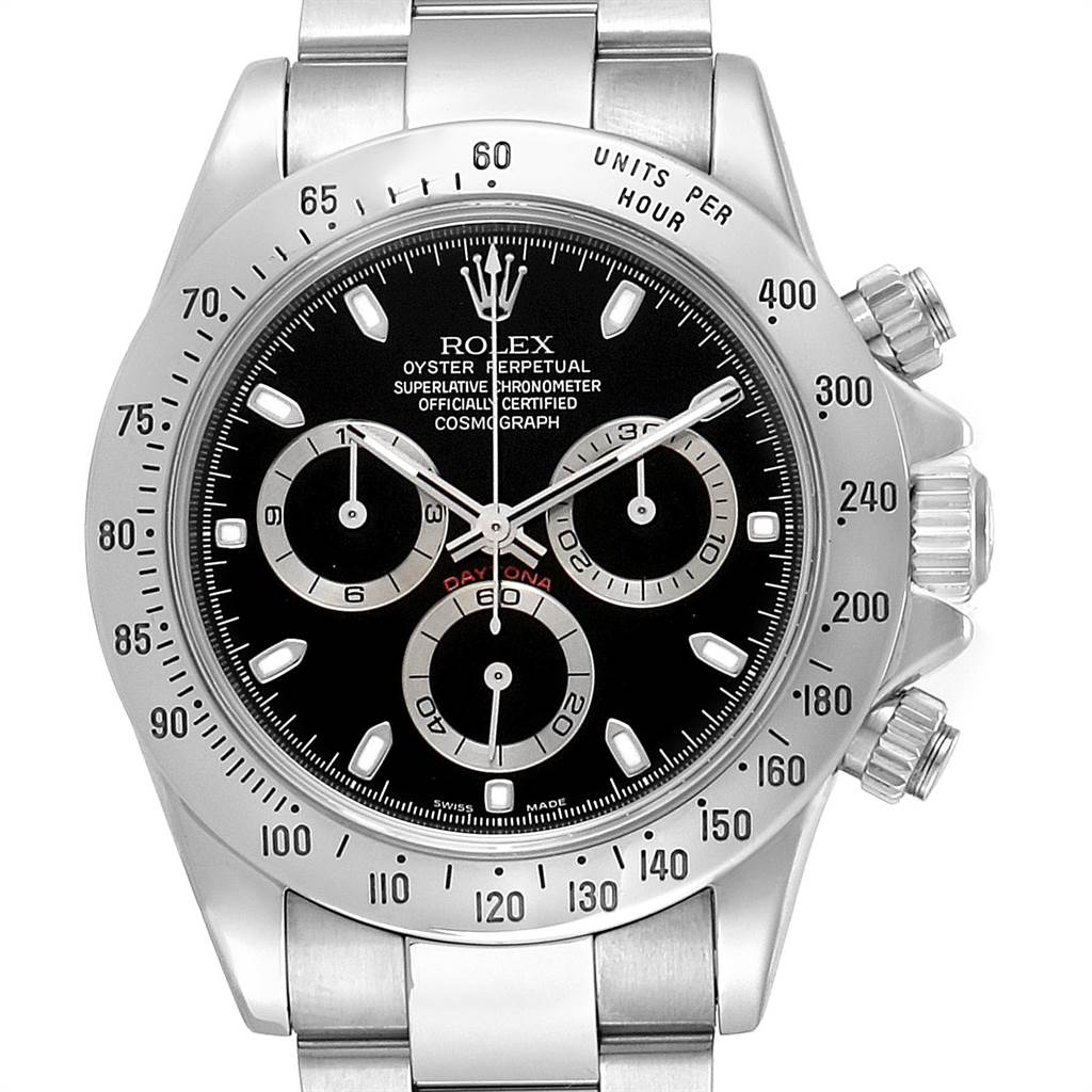 Rolex Daytona Cosmograph Black Dial Chronograph Steel Mens Watch 116520 SwissWatchExpo