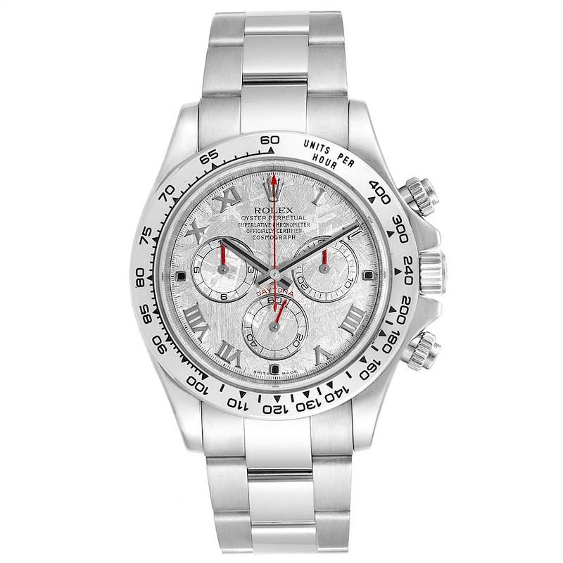 Rolex Cosmograph Daytona White Gold Meteorite Dial Mens Watch 116509 SwissWatchExpo