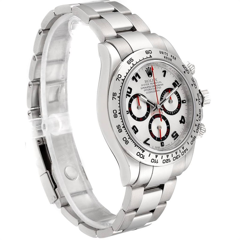 Rolex Daytona White Gold Silver Racing Dial Mens Watch 116509 Box Card SwissWatchExpo