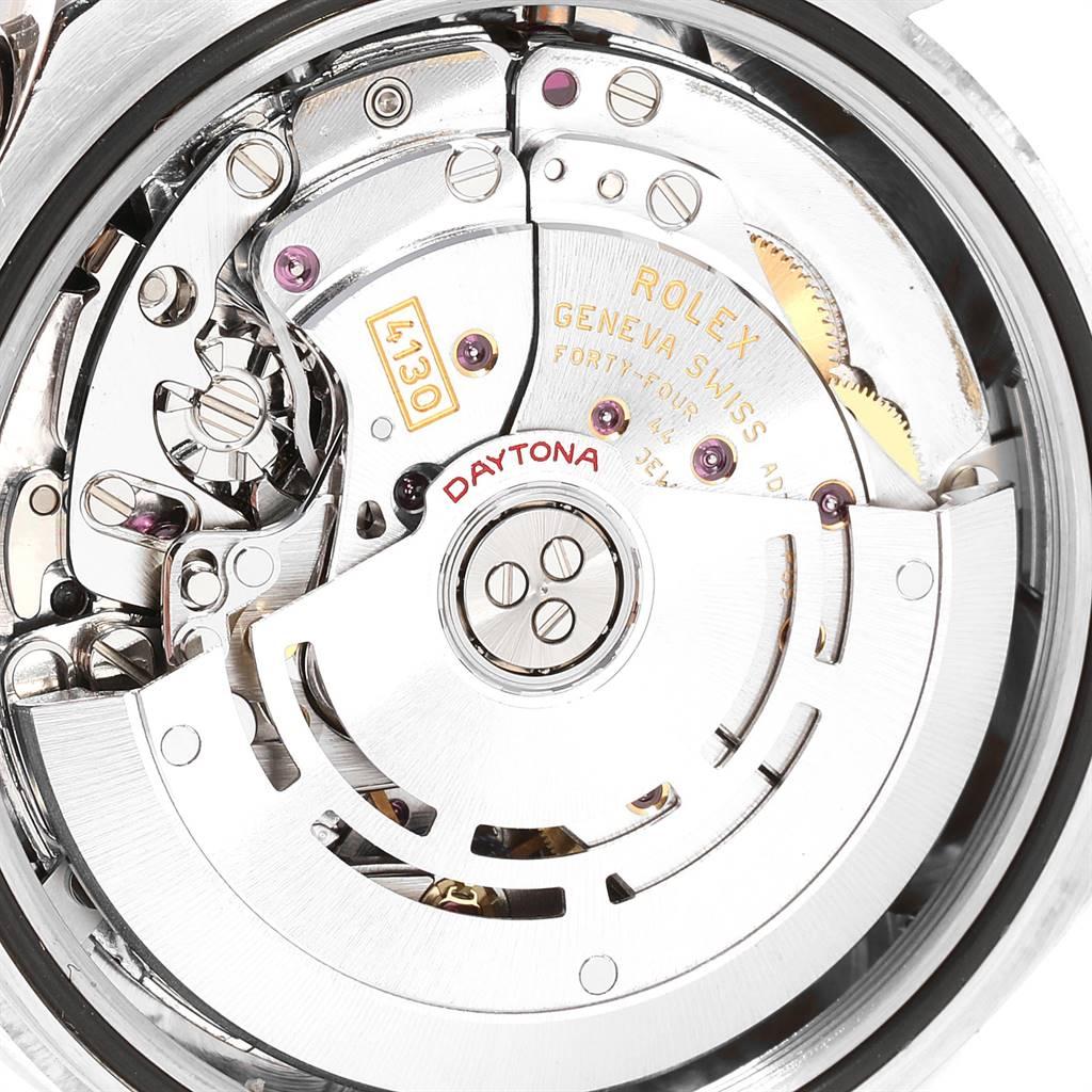 24156 Rolex Daytona White Gold Silver Racing Dial Mens Watch 116509 Box Card SwissWatchExpo