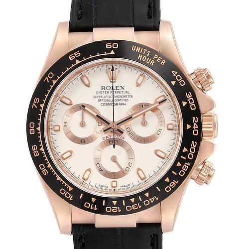 Photo of Rolex Cosmograph Daytona Rose Gold Everose Mens Watch 116515