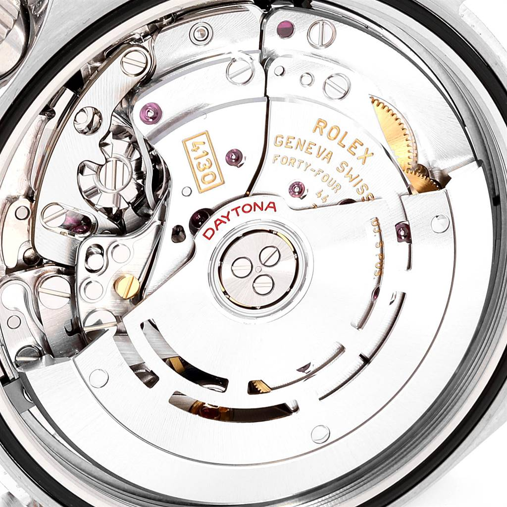 24563 Rolex Daytona Ceramic Bezel White Dial Chronograph Mens Watch 116500 SwissWatchExpo