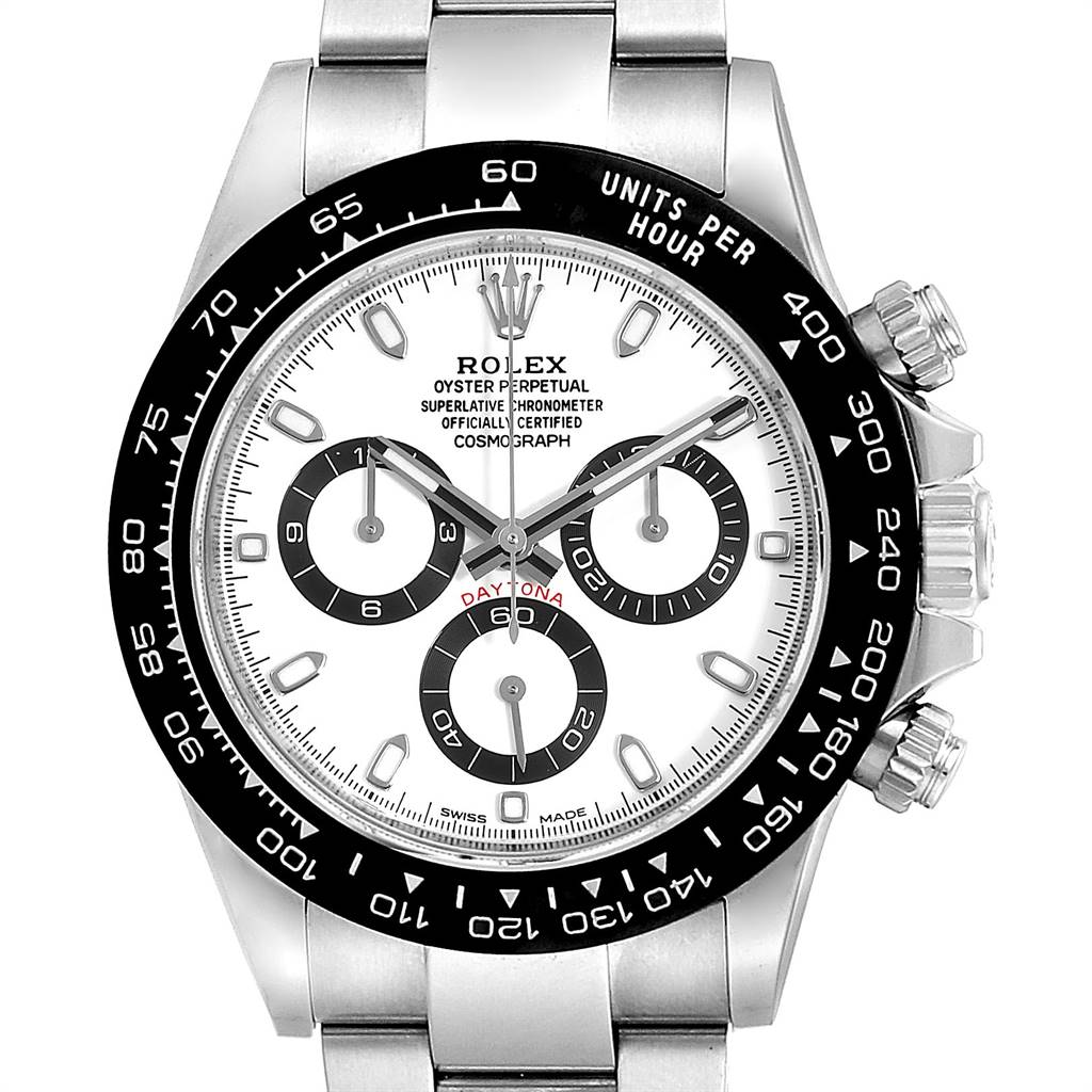 Rolex Daytona Ceramic Bezel White Dial Chronograph Mens Watch 116500 SwissWatchExpo