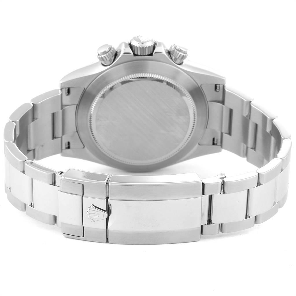 24555 Rolex Cosmograph Daytona 40 White Dial Chrono Steel Mens Watch 116520 SwissWatchExpo