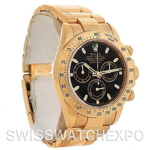Rolex Cosmograph Daytona 18K Y Gold 116528 Box/Papers SwissWatchExpo