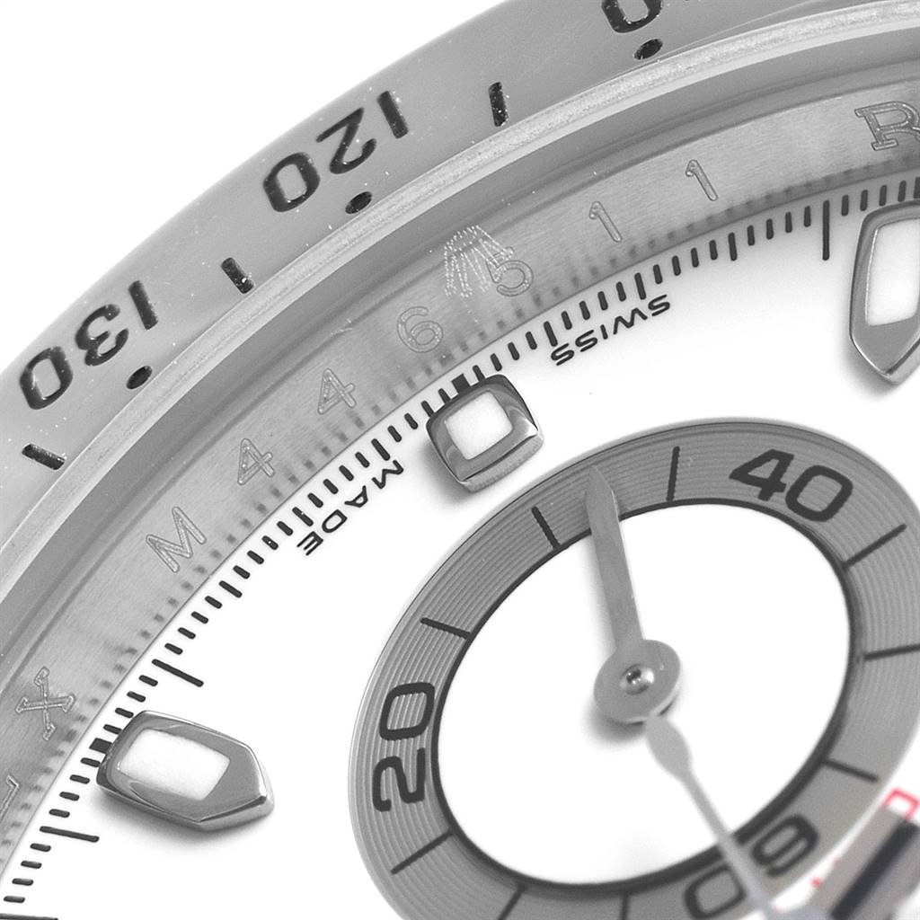 25092 Rolex Cosmograph Daytona 40 White Dial Chrono Steel Mens Watch 116520 SwissWatchExpo