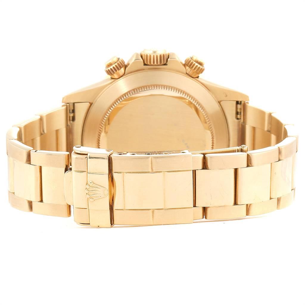 25090 Rolex Cosmograph Daytona Yellow Gold Chronograph Mens Watch 16528 SwissWatchExpo