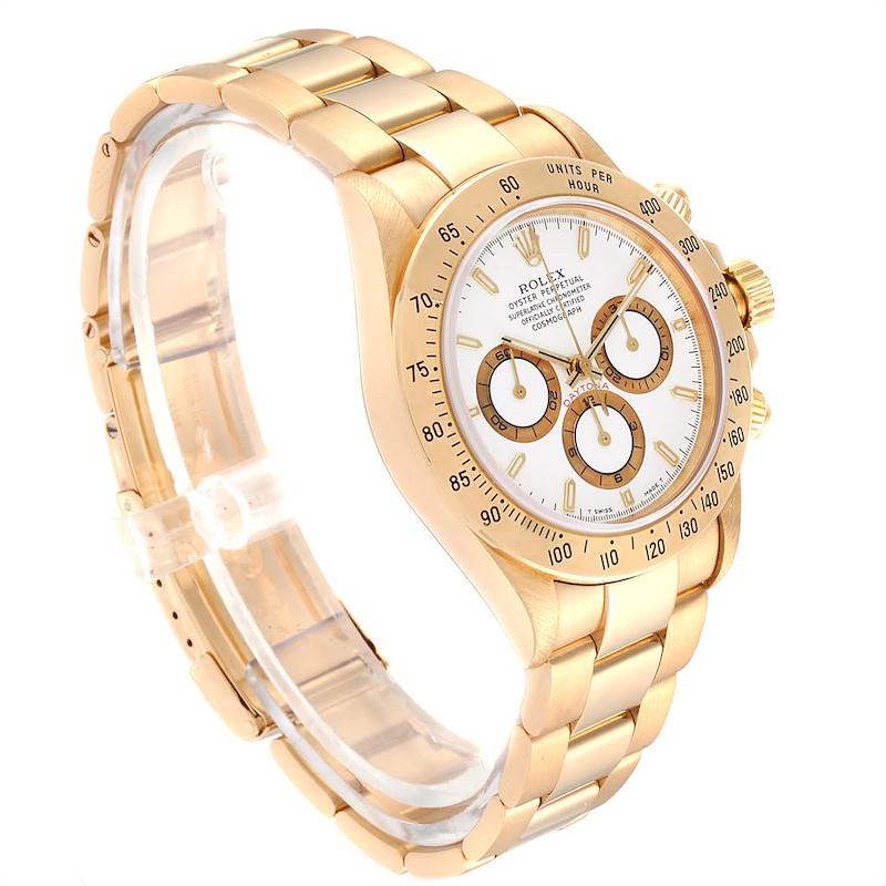 Rolex Cosmograph Daytona Yellow Gold Chronograph Mens Watch 16528 SwissWatchExpo