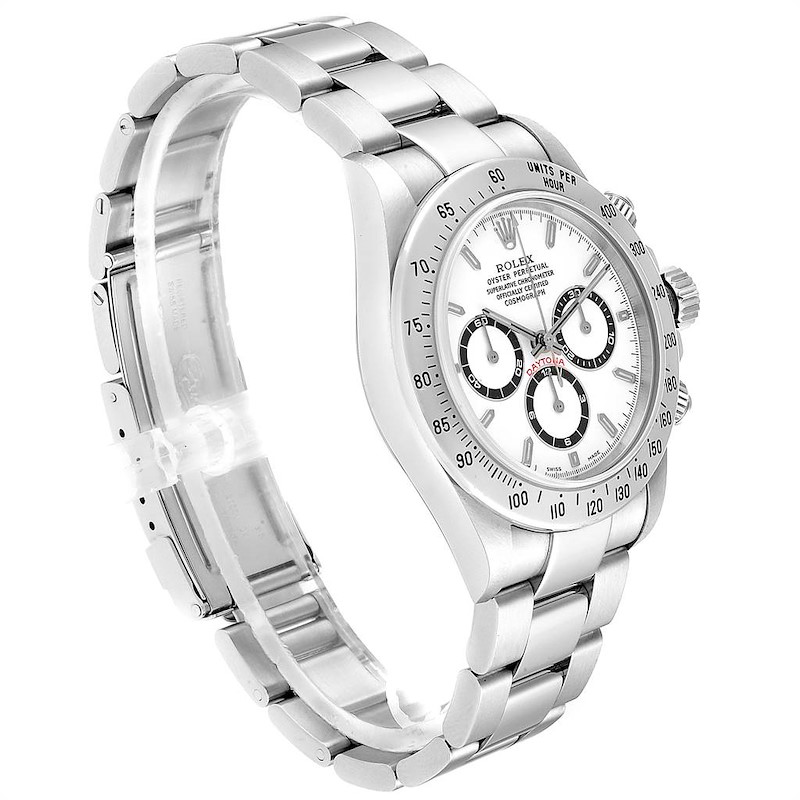 Rolex Cosmograph Daytona Zenith Movement Steel Watch 16520 Box Papers SwissWatchExpo