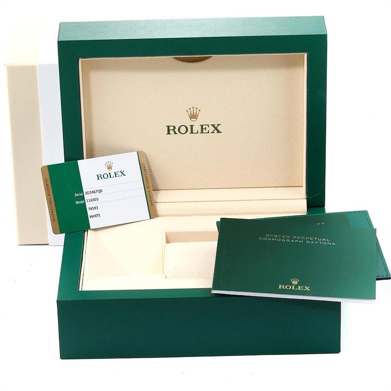 Rolex Cosmograph Daytona Steel Yellow Gold Mens Watch 116503 Box Card SwissWatchExpo