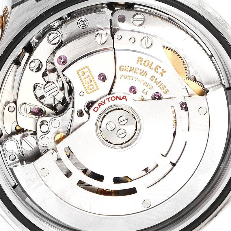Rolex Daytona Steel Yellow Gold Black Dial Mens Watch 116523 Box Card SwissWatchExpo