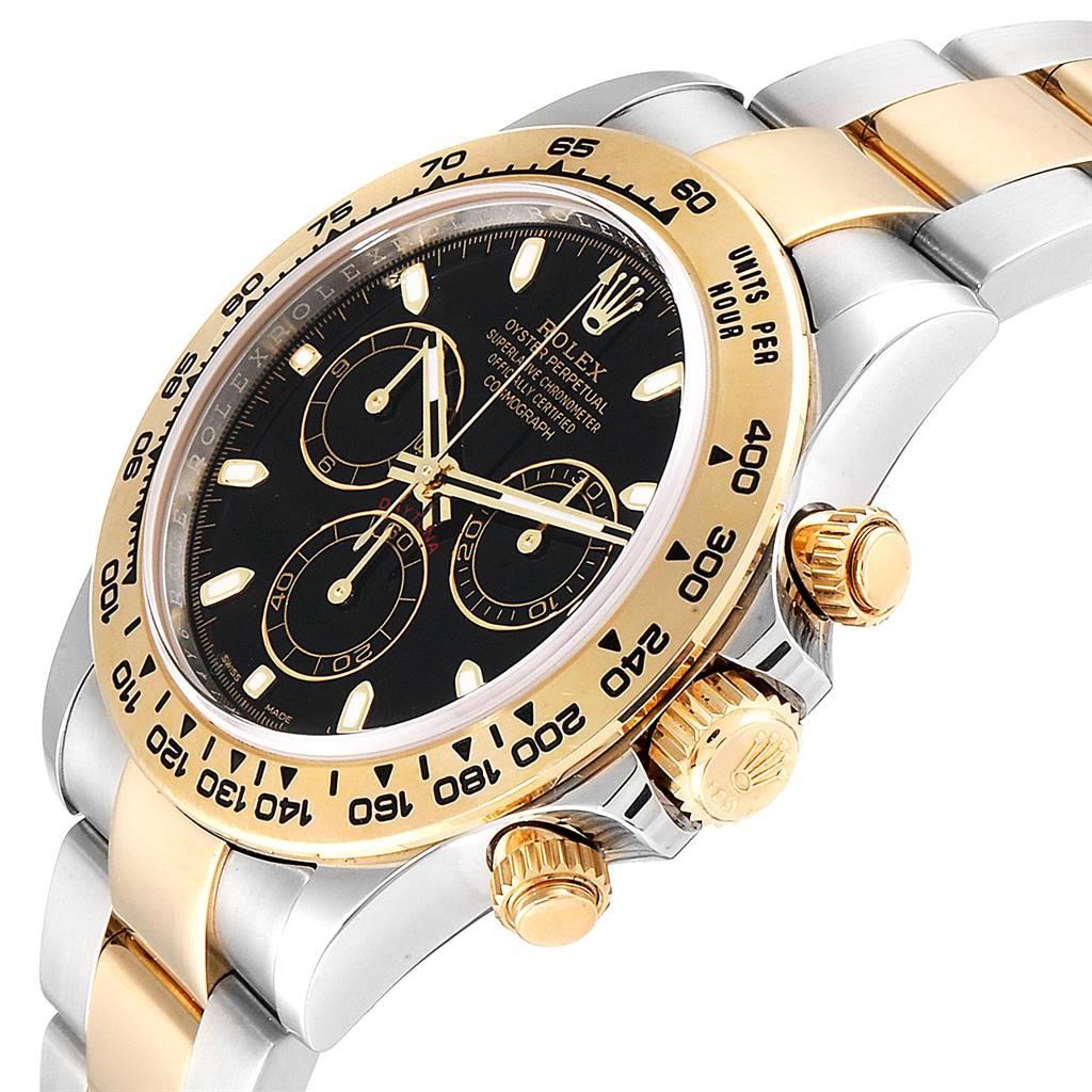 25798 Rolex Cosmograph Daytona Steel Yellow Gold Mens Watch 116503 Box Card SwissWatchExpo