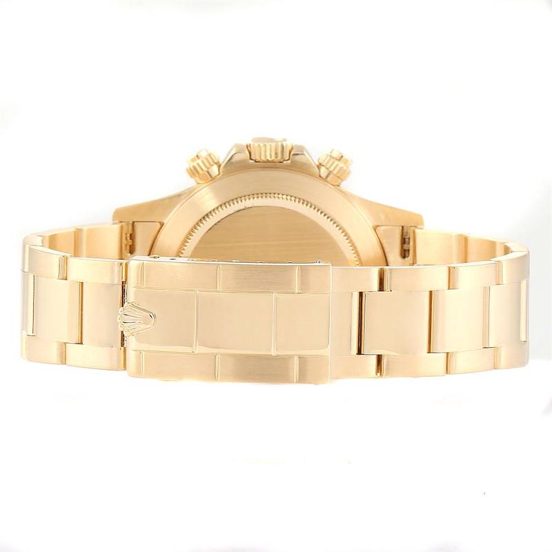 Rolex Daytona Inverted 6 Yellow Gold Chronograph Mens Watch 16528 SwissWatchExpo