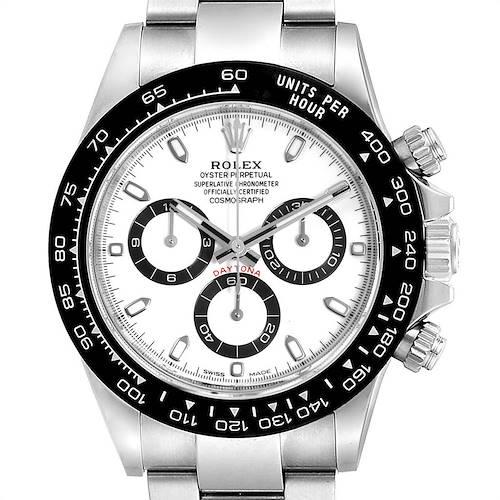 Photo of Rolex Daytona Ceramic Bezel White Dial Mens Watch 116500 Box Card