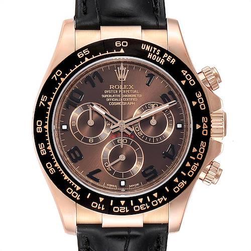 Photo of Rolex Cosmograph Daytona Rose Gold Everose Mens Watch 116515 Box Card