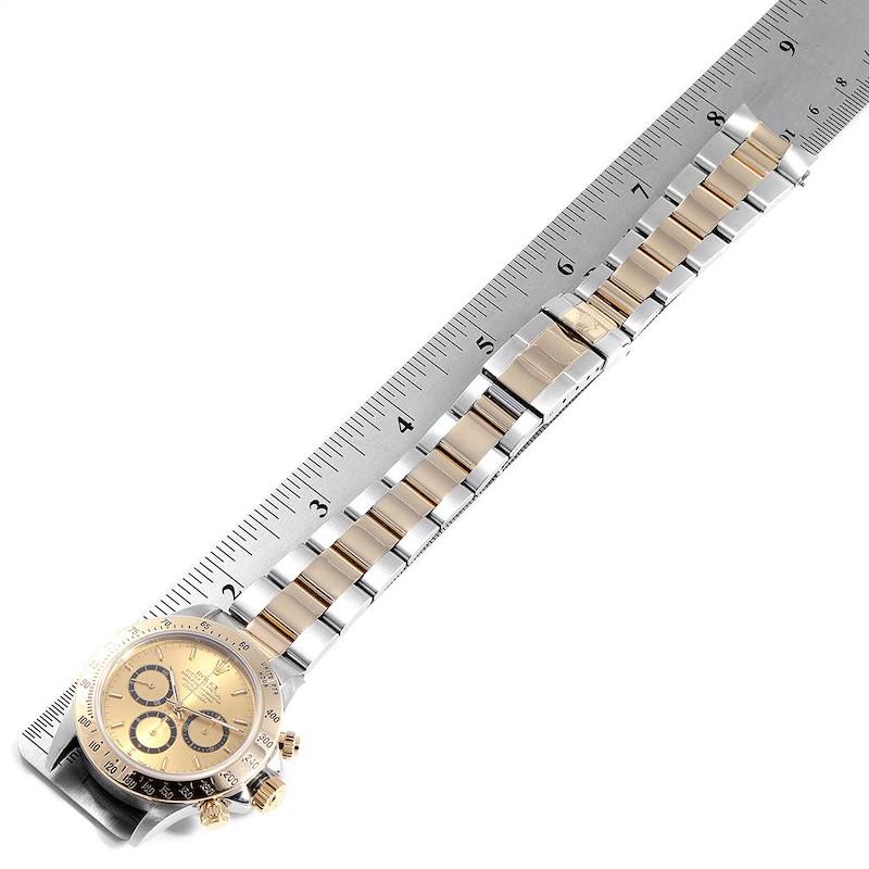 Rolex Daytona Steel Yellow Gold Inverted 6 Mens Watch 16523 Box Papers SwissWatchExpo
