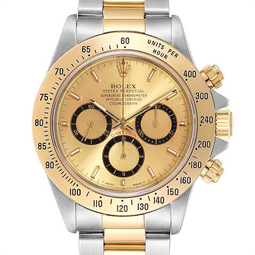 Photo of Rolex Daytona Steel Yellow Gold Inverted 6 Mens Watch 16523 Box Papers