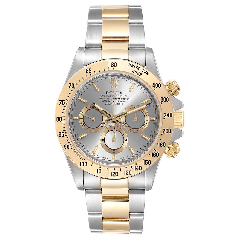 Rolex Daytona Steel Yellow Gold Slate Dial Mens Watch 16523 SwissWatchExpo