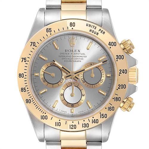 Photo of Rolex Daytona Steel Yellow Gold Slate Dial Mens Watch 16523