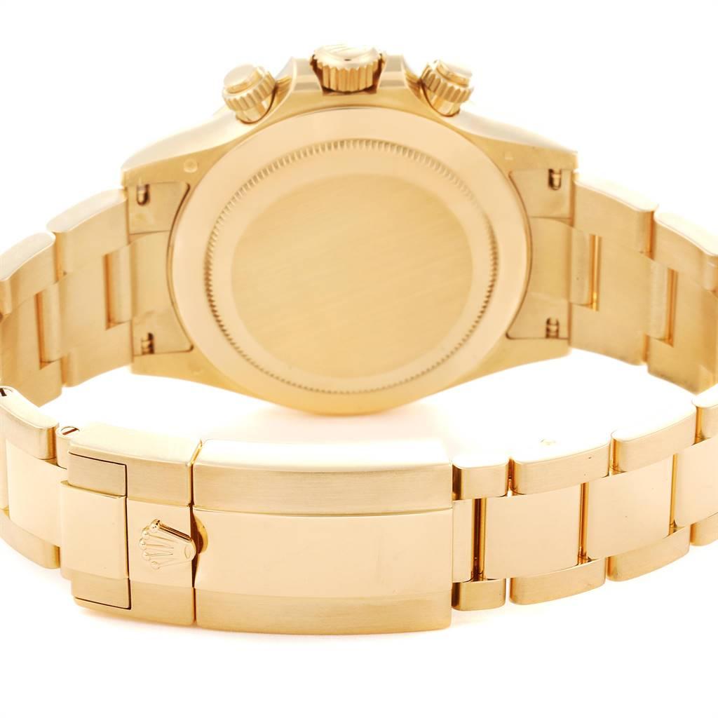 Rolex Daytona Yellow Gold Green Dial Mens Watch 116508 Box Card SwissWatchExpo