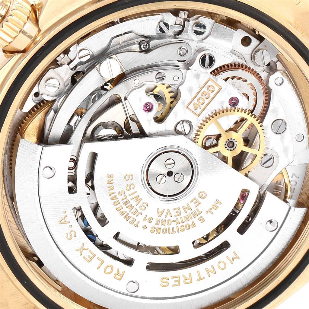 Rolex Daytona Yellow Gold White Dial Brown Strap Mens Watch 16518 SwissWatchExpo