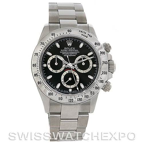 2775 Rolex Preowned Cosmograph Daytona SS Mens Watch 116520 With Box SwissWatchExpo