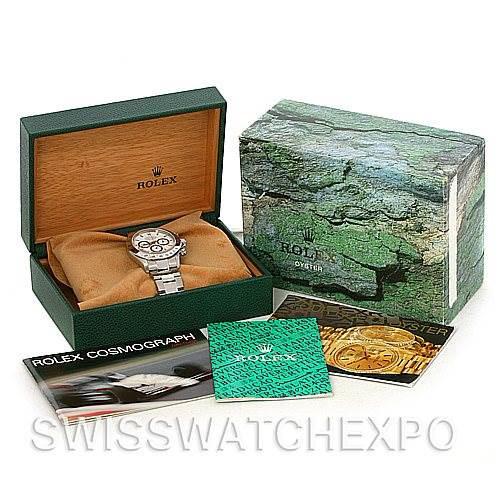 Rolex Cosmograph Daytona Zenith Movement Steel Mens Watch 16520 SwissWatchExpo