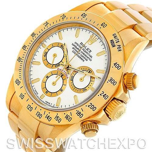 Rolex Cosmograph Daytona 18K Yellow Gold Watch 16528 SwissWatchExpo