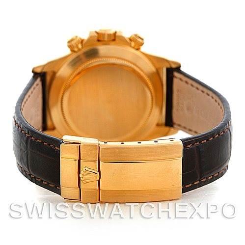 Rolex Cosmograph Daytona 18K Yellow Gold Watch 16518 SwissWatchExpo