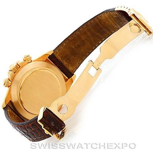 6259 Rolex Cosmograph Daytona 18K Yellow Gold Watch 16518 SwissWatchExpo