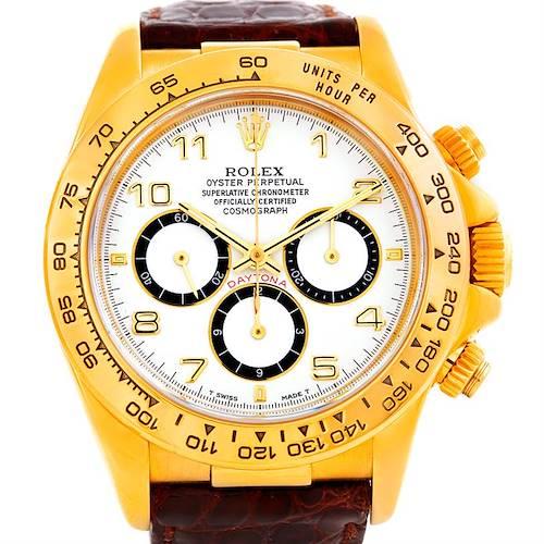 Photo of Rolex Cosmograph Daytona 18K Yellow Gold Watch 16518