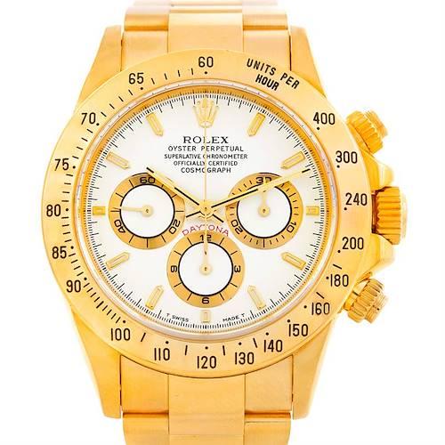 Photo of Rolex Cosmograph Daytona 18K Yellow Gold Watch 16528