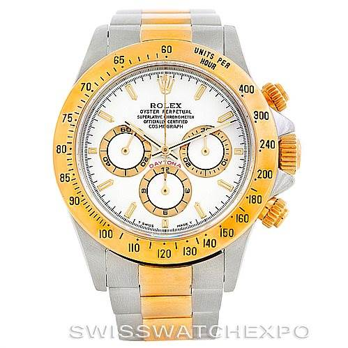 6519 Rolex Cosmograph Daytona Steel and Gold Mens Watch 16523 SwissWatchExpo