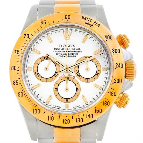 Photo of Rolex Cosmograph Daytona Steel and Gold Mens Watch 16523