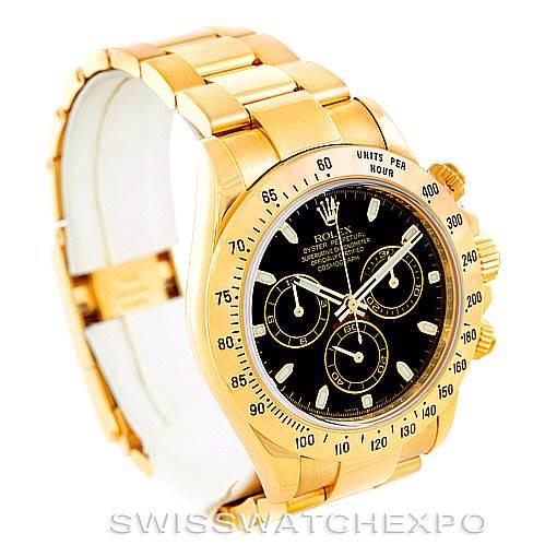 Rolex Cosmograph Daytona 18K Yellow Gold Watch 116528 SwissWatchExpo